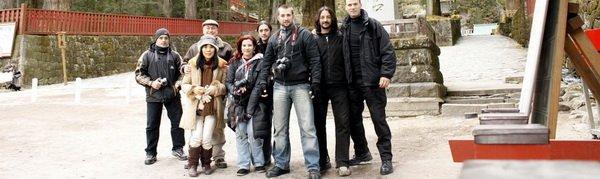 El grupo junto a Chieko y Mark Lithgow en Nikko.