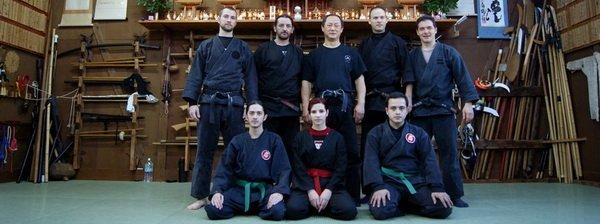 El grupo a pleno con Nagato Sensei en el Honbu Dojo.